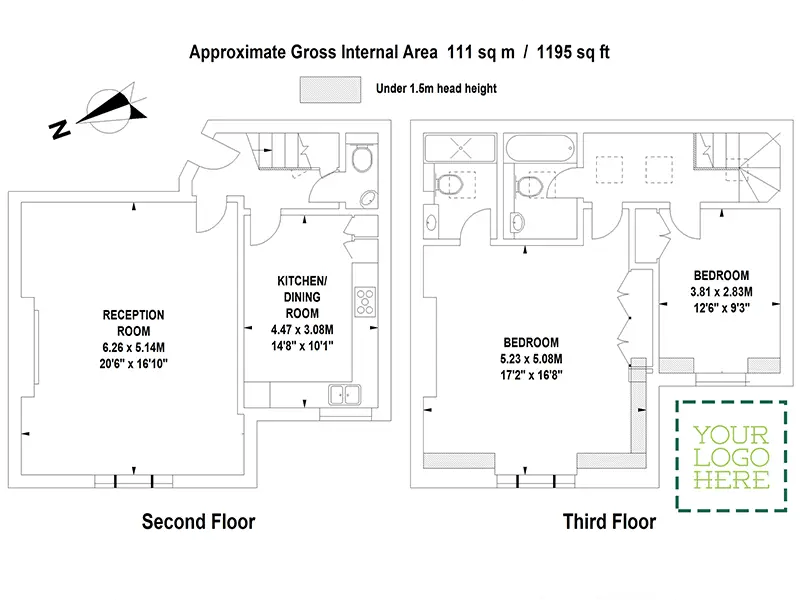 Floor Plans by Harpr Surveyors - This is an example of our hollow walled and branded floor plans