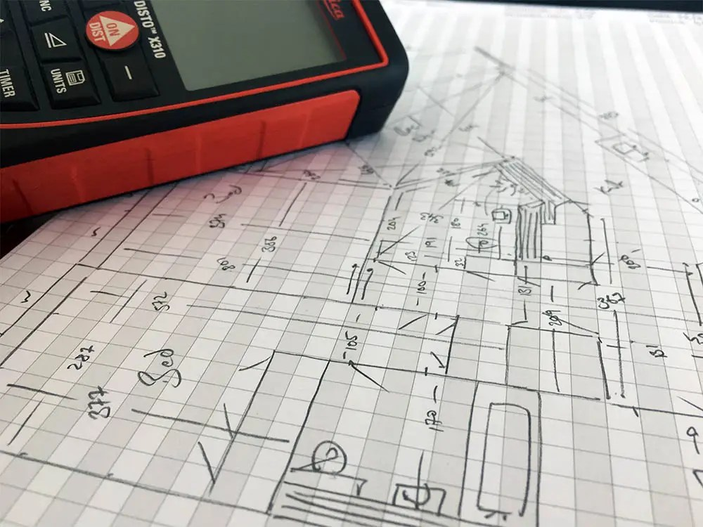 Floor Plans by Harpr Surveyors - This is a sketch of a floor plans before it gets converted into CAD
