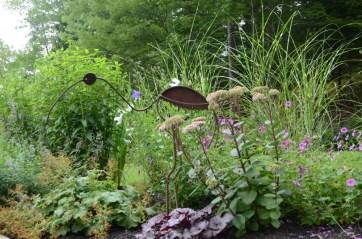Bird Sculpture at Diane Loughlin's garden