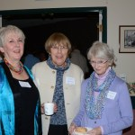 Becky Gallery, Linda Clement and Mary Maroney have coffee and treats before the meeting begins
