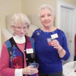 Mary Maroney and Suzanne Bushnell enjoying some punch.