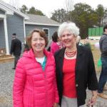 Nancy Kinser and Becky Gallery at Habitat for Humanity home dedication