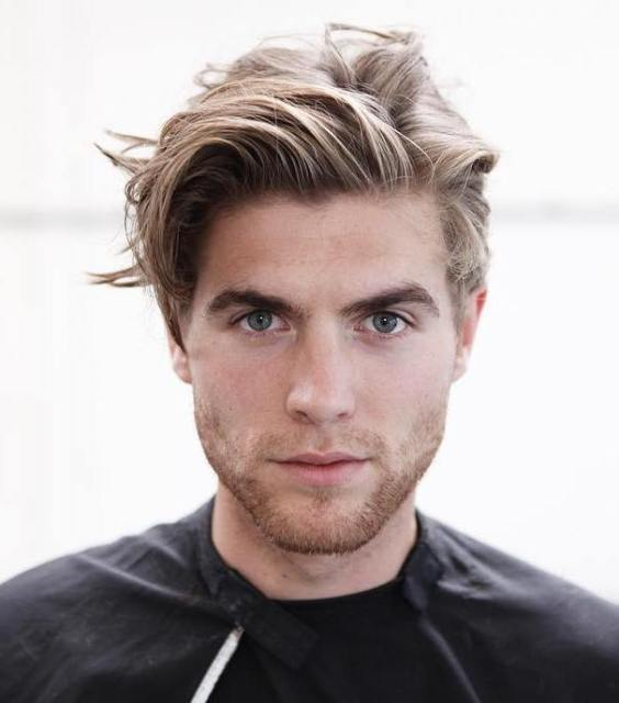Top Medium Length Hairstyles Men - Natural Medium Length Waves Hairstyle - Harptimes.com