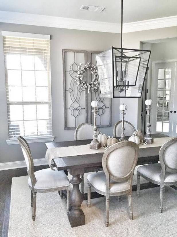 Formal Dining Room Wall Decor - Repurposing the Trellises - Harptimes.com