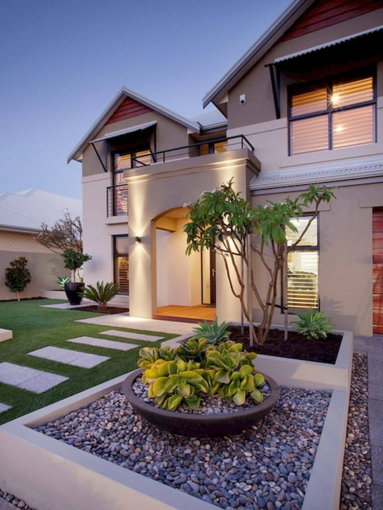 Stylish Front Yard Landscaping Ideas for Modern Houses - Harptimes.com