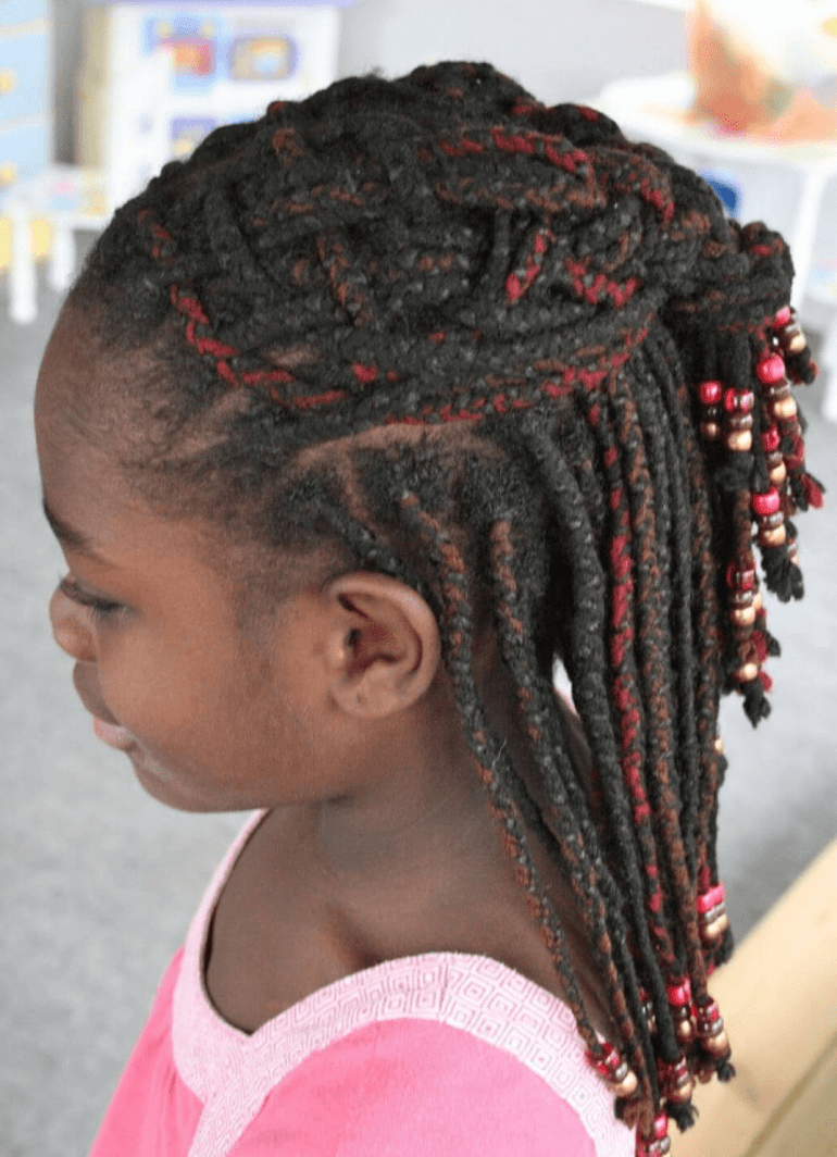 4. Dreadlocks Kids Hairstyles for go to school -Harptimes.com