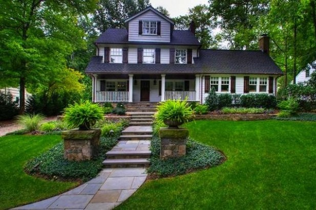 Symmetrical Front Yard Landscaping Ideas - Harptimes.com