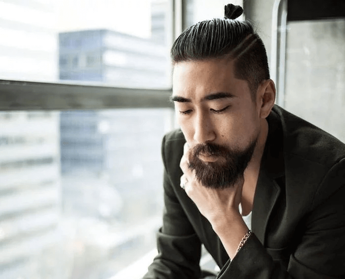 Asian Hairstyles Men with Bun - Harptimes.com
