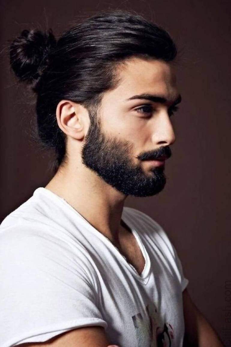 Man Bun Long Hairstyles For Men - Harptimes.com