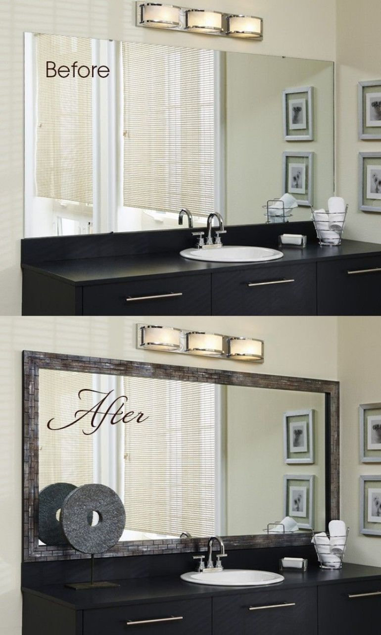 20. Framing Bathroom Mirror Ideas - Harptimes.com