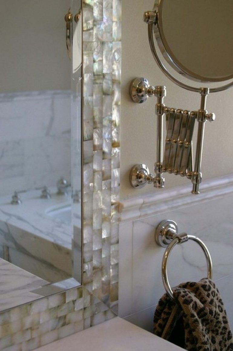 6. Pearl Bathroom Mirror Ideas - Harptimes.com