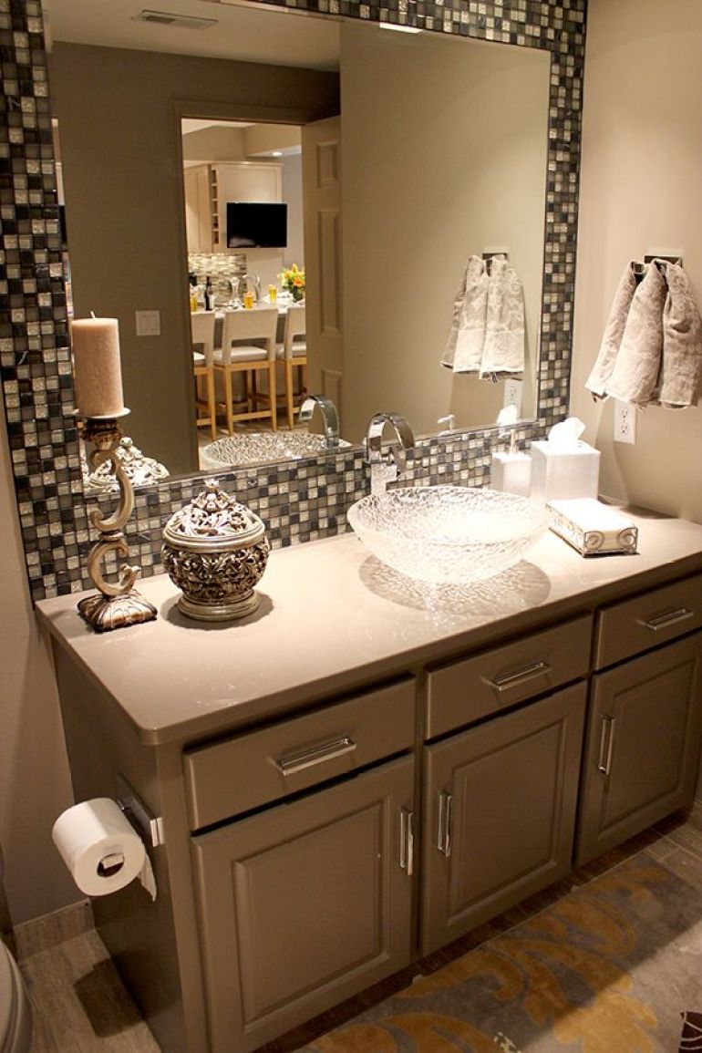 Bathroom Mirror Ideas 7. Fancy Bathroom Mirror with Elegant Balance - Harptimes.com