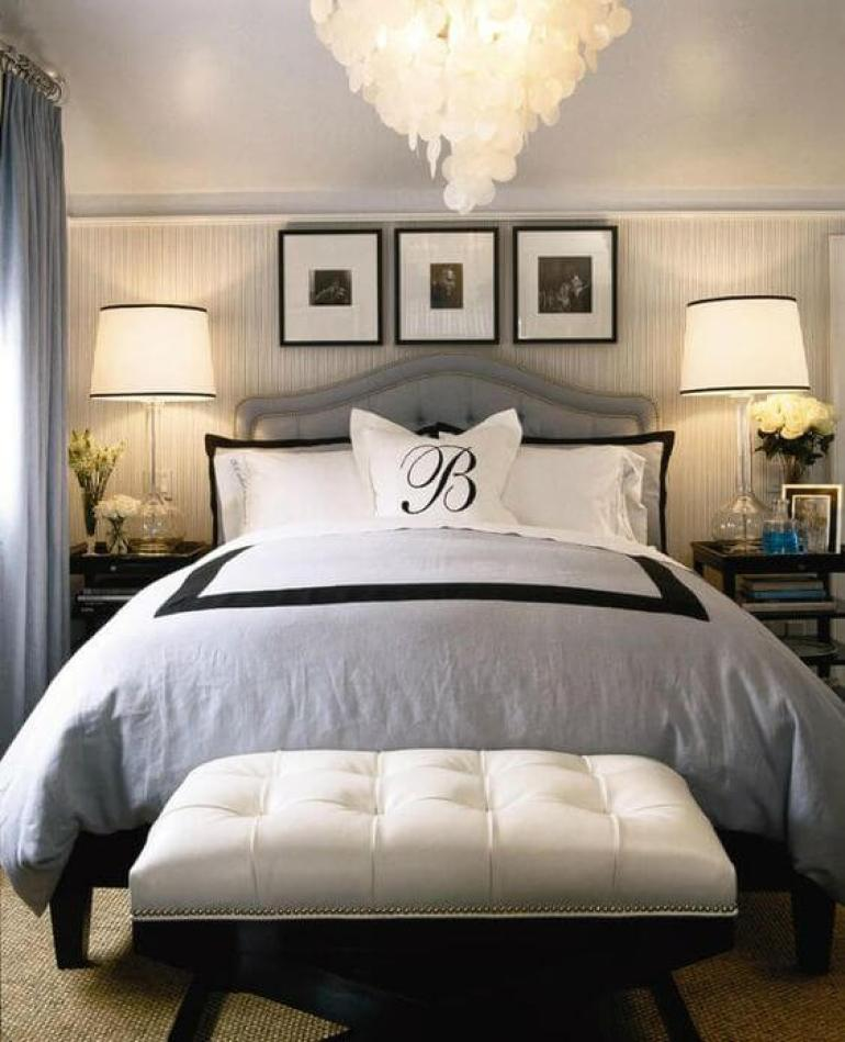 coastal master bedroom ideas - 18. Classy Master Bedroom Design in Hotel - Harptimes.com