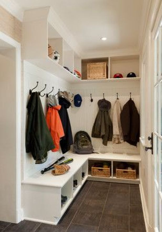 rustic mudroom ideas - 19. Big Mudroom Space Design - Harptimes.com