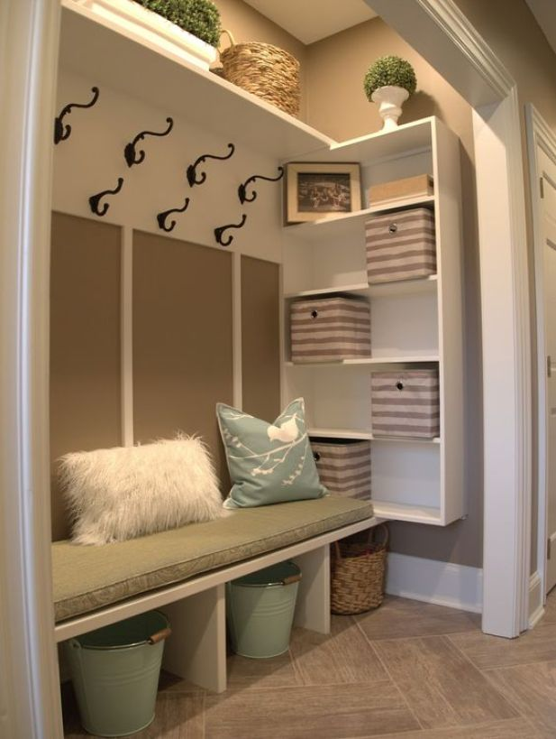 rustic mudroom ideas - 5. Comfortable Mudroom Closet Ideas - Harptimes.com
