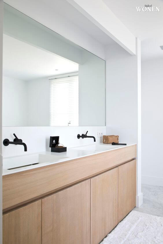 Bathroom Cabinet Ideas All-White Bathroom with Black Taps - Harptimes.com