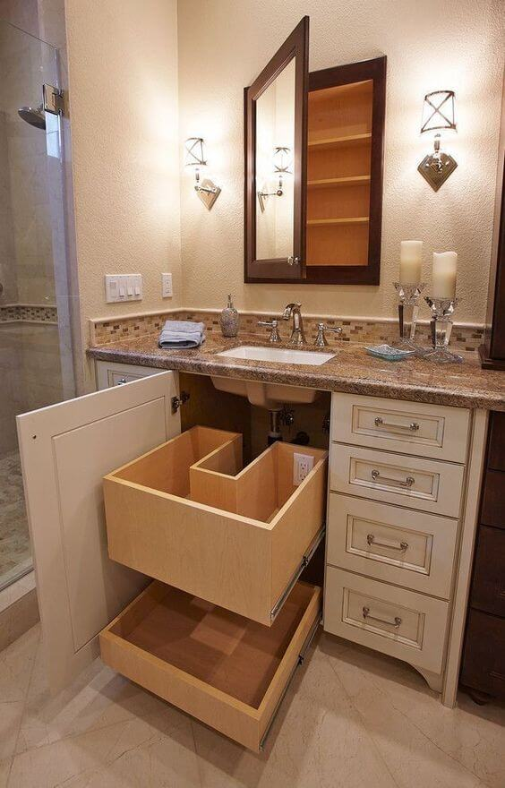 Bathroom Cabinet Ideas Bathroom Cabinet Ideas with Under-Sink Drawers - Harptimes.com