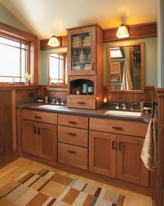 Bathroom Cabinet Ideas Oak Mission Style Bathroom Cabinet - Harptimes.com