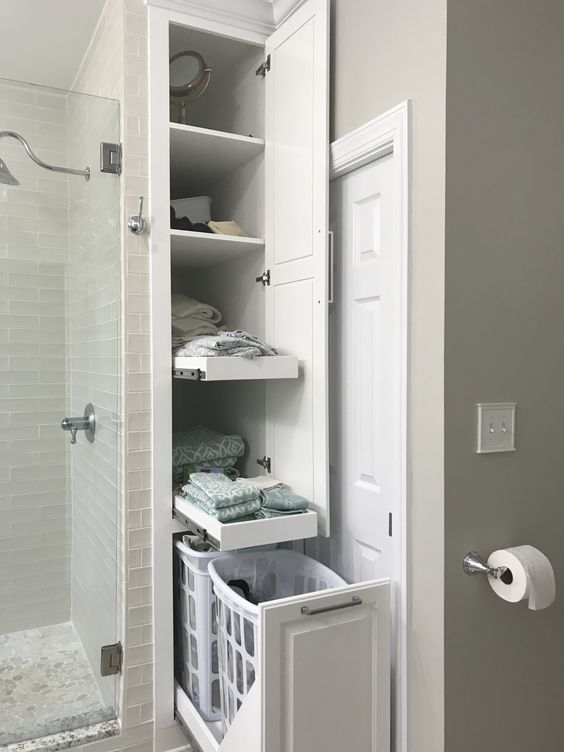 Bathroom Cabinet Ideas Tall Built-In Bathroom Cabinet For Linen - Harptimes.com