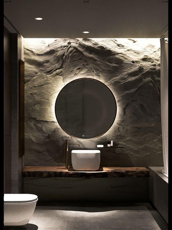 Bathroom Lighting Ideas Backlit Bathroom Mirror Ideas - Harptimes.com