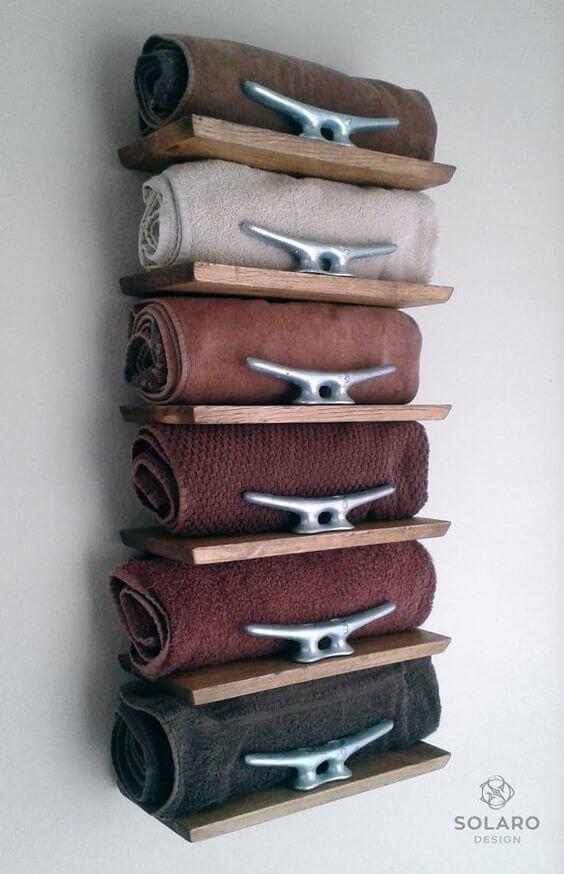 Bathroom Storage Ideas Dock Cleats Shelves for Towel - Harptimes.com