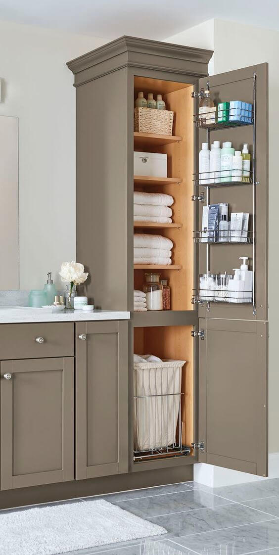 Bathroom Storage Ideas Tower Cabinet for Small Bathroom - Harptimes.com