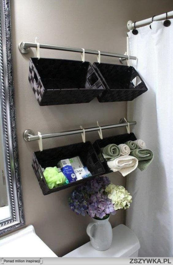 Bathroom Wall Decor Hanging Baskets over the Toilet - Harptimes.com