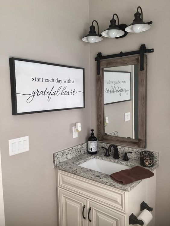 Bathroom Wall Decor Modern Farmhouse Bathroom Wall Decor - Harptimes.com