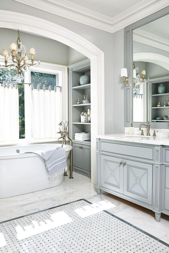 Classy Farmhouse Master Bathroom Ideas - Harptimes.com