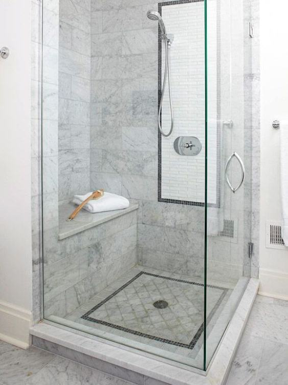 Eye-Catchy Walk-In Shower Tile Ideas - Harptimes.com
