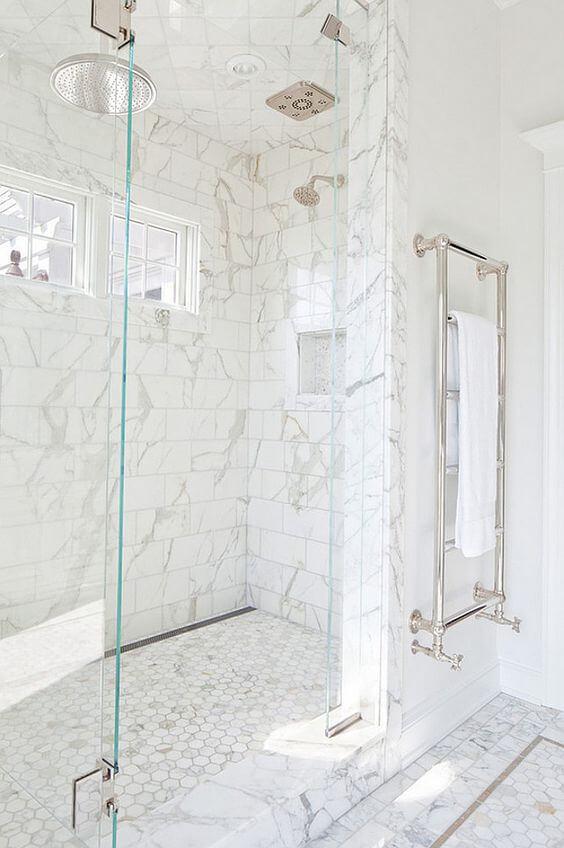 Marble Tile for Walk In Shower Tile Ideas - Harptimes.com