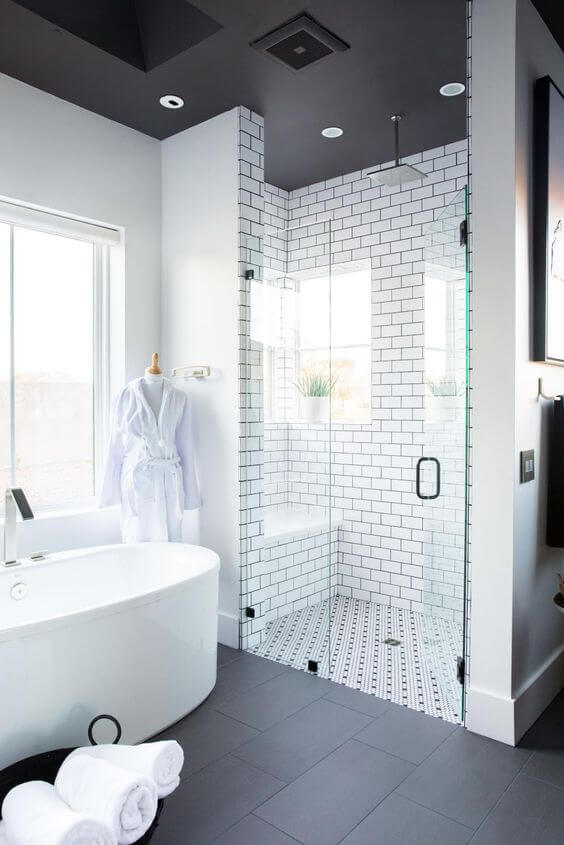 Monochromatic Color Scheme for Master Bathroom Ideas - Harptimes.com