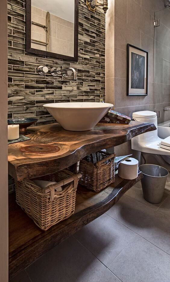 Reclaimed Wood for Modern Rustic Bathroom Ideas - Harptimes.com