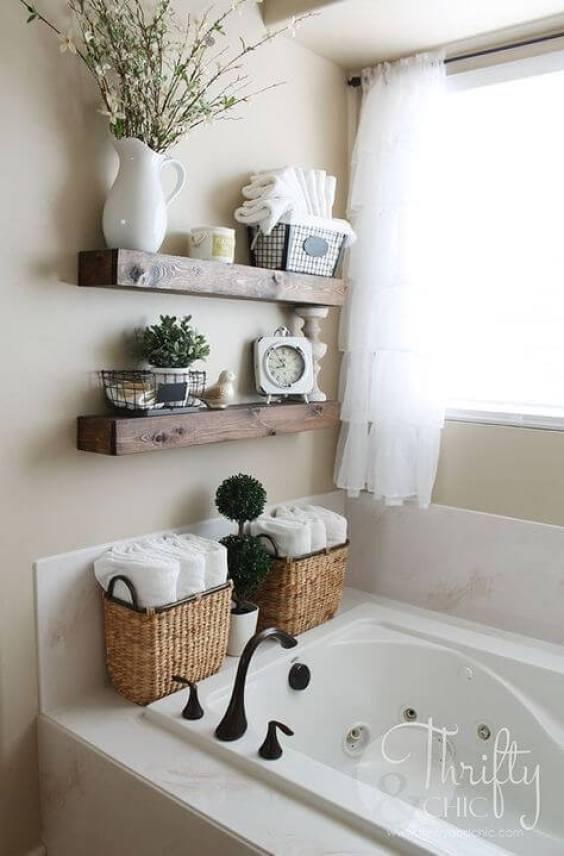 Rustic Bathroom Ideas Rustic Shelf Organizer by the Sink - Harptimes.com