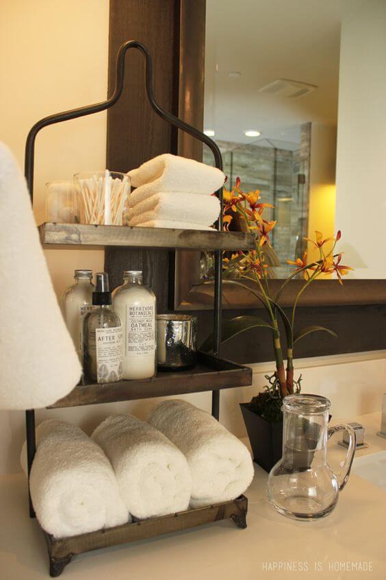 Rustic Bathroom Ideas Useful Decor on the Countertop - Harptimes.com