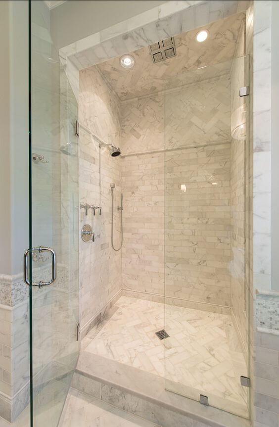 Walk In Shower Tile Ideas Best Vertical Shower Tile - Harptimes.com