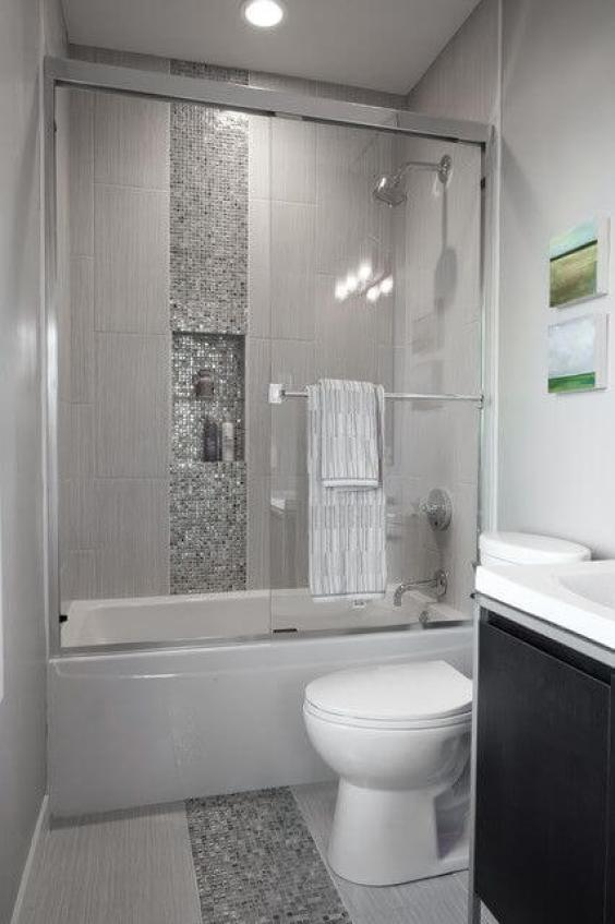 Walk In Shower Tile Ideas Stylish Small Bathroom with Shower Tile up to the Ceiling - Harptimes.com