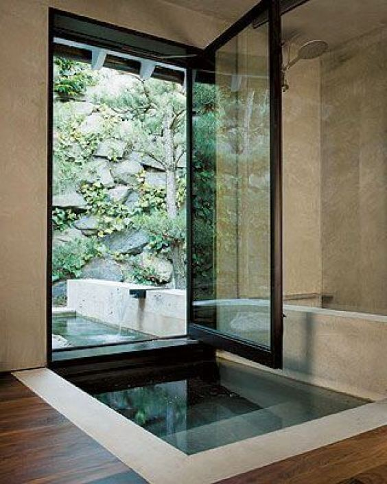 Outdoor Shower Ideas A Bathroom, Pool, and Zen - Harptimes.com