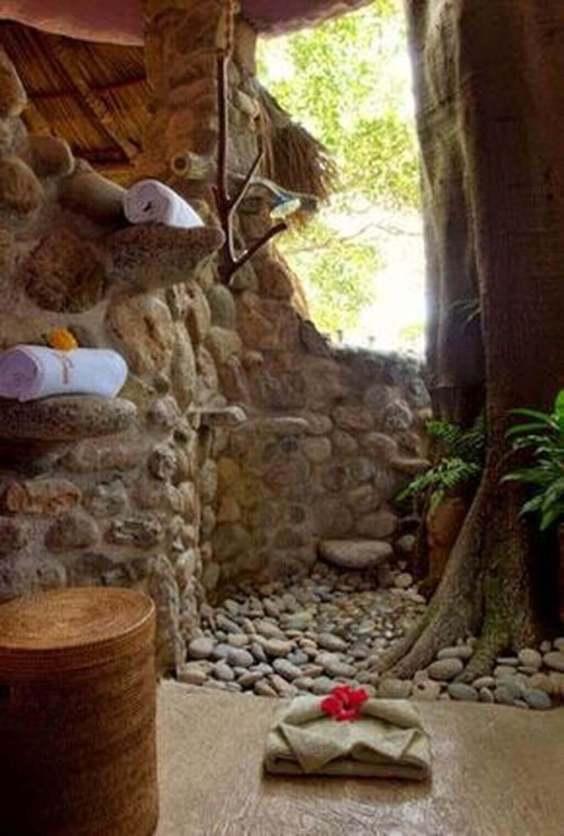 Outdoor Shower Ideas Jungle Outdoor Shower Design - Harptimes.com
