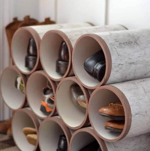 Basement PVC Storage Ideas