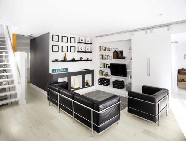 Black-White Modern Small Living Room Space Decor Ideas