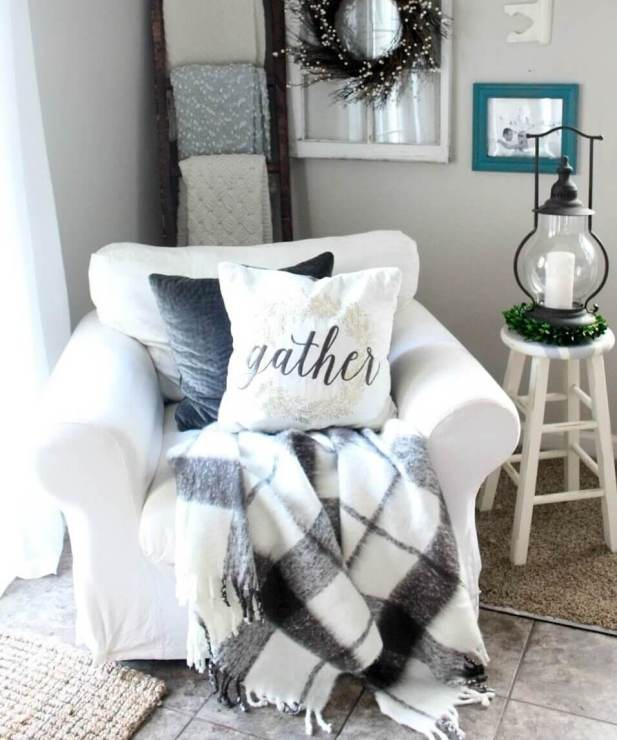 Farmhouse Living Room Ideas Comfy Armchair
