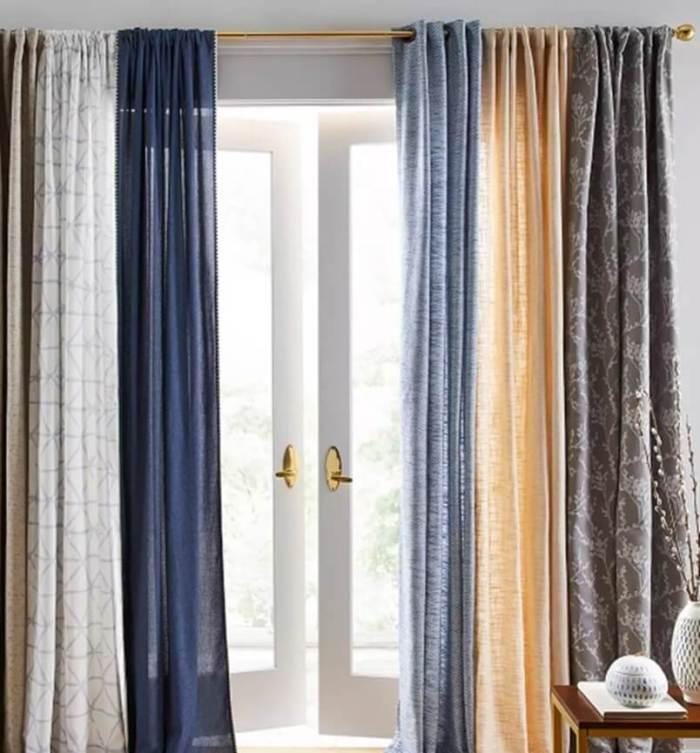 Farmhouse Living Room Ideas Extra-tall Curtain