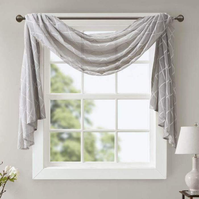 Having Curtain Scarves for Window Living Room Decor Ideas - Harptimes.com
