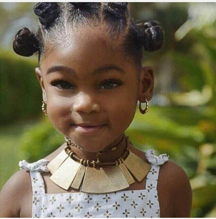 Little Black Girl Hairstyles Cute Tiny Buns
