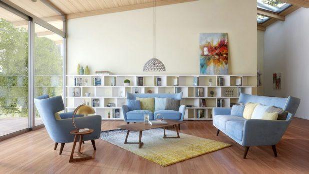Modern Living Room Design Ideas with Pasty Scheme