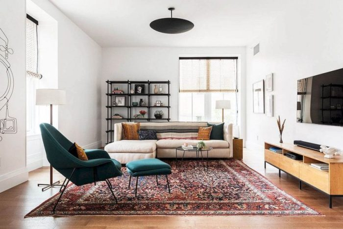 Old Sofa with New Covering for Living Room Decor Ideas