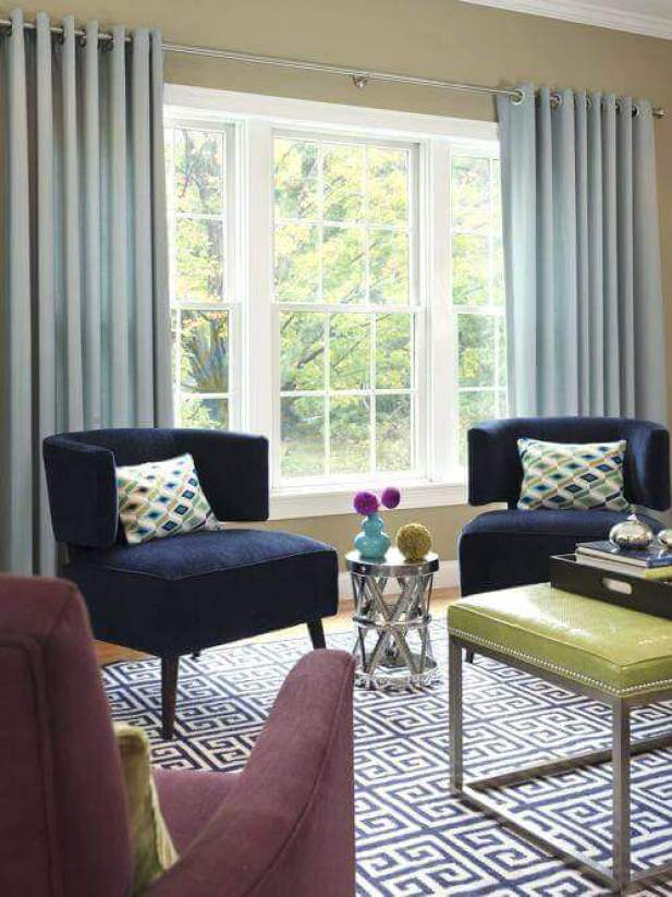 Pinch Pleat Living Room Curtains Ideas