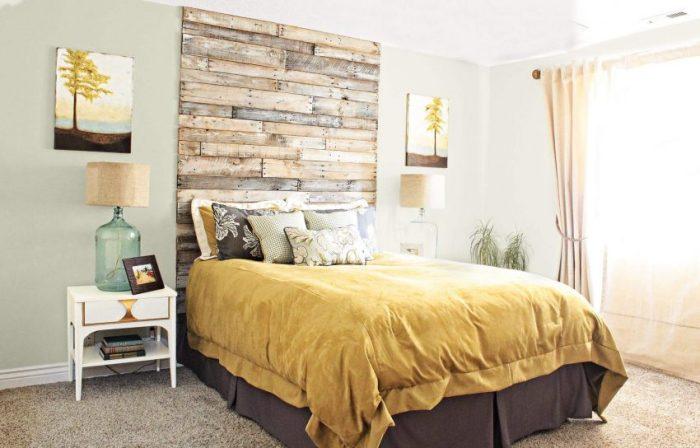 Wall Ideas Wood Paneled Headboard