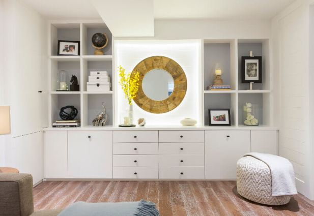 Built-In Storage for Basement Finishing Ideas